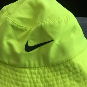 Neon green Nike toddler hat
